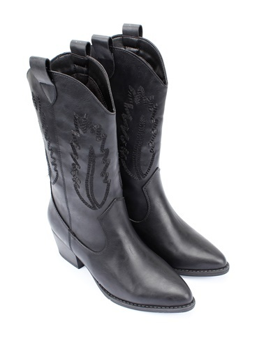 G.Ö.N. Kovboy Çizmesi Siyah